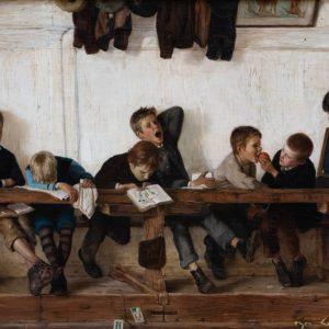 Igler, Gustav: Auf der Eselsbank, 1881