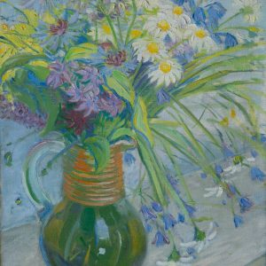 Maria Marc, geb. Franck: Krug mit Sommerblumen, um 1913