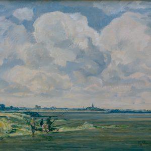 Max Clarenbach: Angler am Rhein