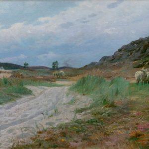 Peder Mønsted: In the dunes, 1921