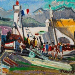 Pruvost, Pierre: Antibes. Das Thunfischboot am Kai